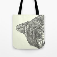 panther Tote Bags featuring Panther by Breakell
