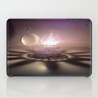 duvet cover iPad Cases featuring LIGHT AND SHADOW DUVET COVER by aztosaha