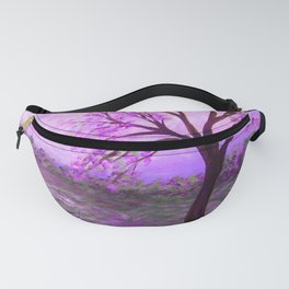 One Purple Tree Abstract Landscape Fanny Pack