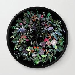Noel - Christmas crown Wall Clock