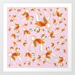 Akita Inu (Pattern) Art Print