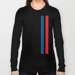 McQueen – Red and Blue Stripes Long Sleeve T-shirt