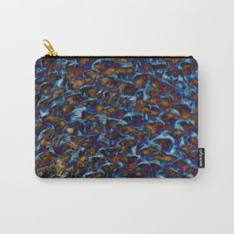 Blue Tones Texture Carry-All Pouch