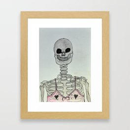 Sexy Skeleton Framed Art Print