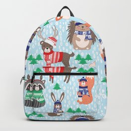 Christmas woodland Backpack
