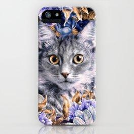 Cat in Flowers. Autumn iPhone Case