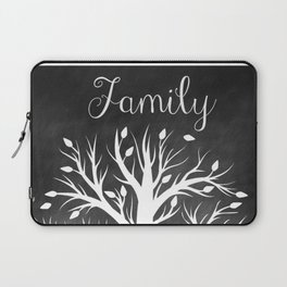 Family Tree Black and White Laptop Sleeve