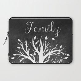 Family Tree Black and White Laptop Sleeve