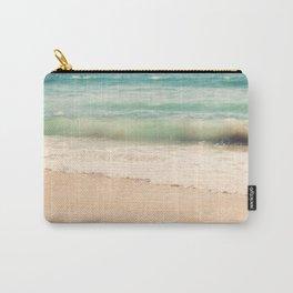 beach. Sea Glass ocean wave photograph. Carry-All Pouch