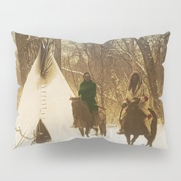 The winter camp - Crow (Apsaroke) Indians Pillow Sham