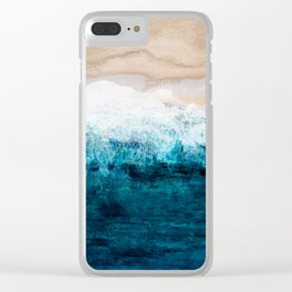 Watercolour Summer beach III Clear iPhone Case