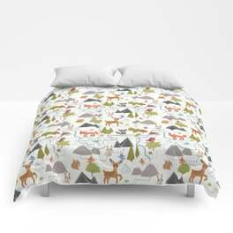 Funny Forest Map Comforters
