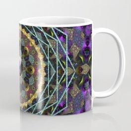 Purple Yin Yang Sacred Geometry Fractals Coffee Mug