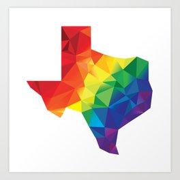 Geometric Pride Texas Art Print