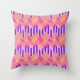 ZigZag All Day - Pink Throw Pillow
