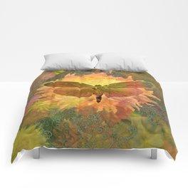 Autum Dhalia Buttefly Circadia Comforters