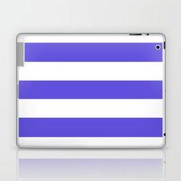 Majorelle blue -  solid color - white stripes pattern Laptop & iPad Skin