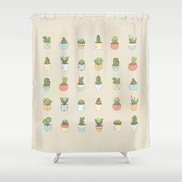 Cute Succulents Shower Curtain