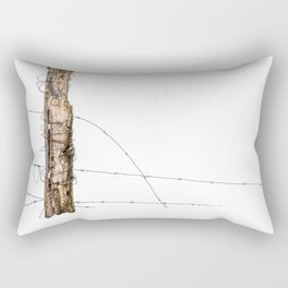 Barbed wire & Fence Post (in the snow) Rectangular Pillow
