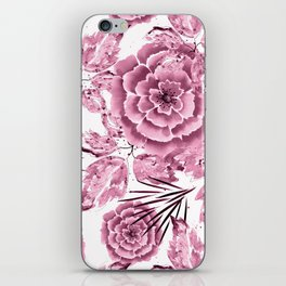 Dusty pink flowers. iPhone Skin