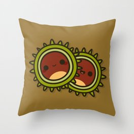Cute Conkers Throw Pillow