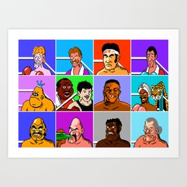Mike Tyson's Punch Out NES Art Print