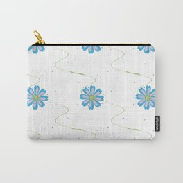 Wavy Floral Pattern Carry-All Pouch