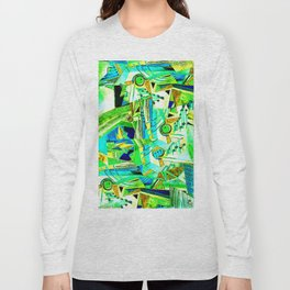 abstract #240 Long Sleeve T-shirt