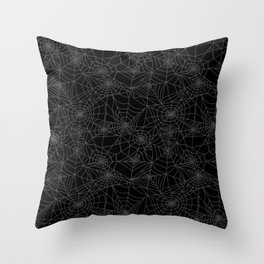 Dead of Night Cobwebs Throw Pillow