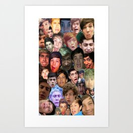 ONE DIRECTION - DERP COLLAGE Art Print