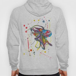 Octopus - Watercolor Painting Hoody