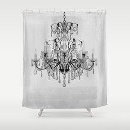 belle epoque chandelier Shower Curtain