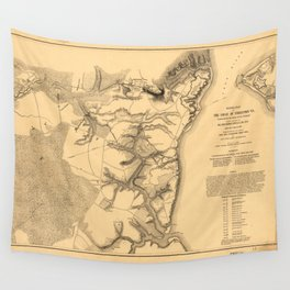 Siege of Yorktown Virginia Civil War Map (April 5-May 3 1862) Wall Tapestry