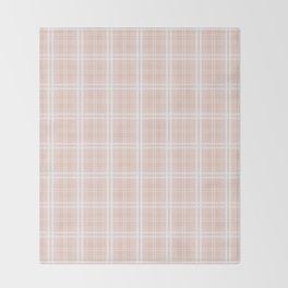 Spring 2017 Designer Color Pale Pink Dogwood Tartan Plaid Check Throw Blanket