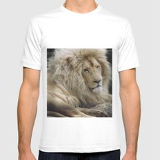 Lion King Mens Fitted Tee MEDIUM White