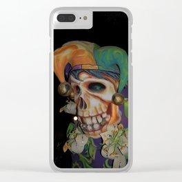 Jester Skull Carnival Clear iPhone Case