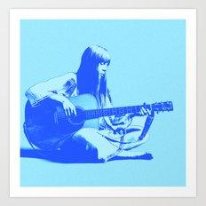 Blue Songbird Art Print