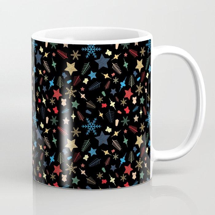 Christmas elements mix pattern Coffee Mug