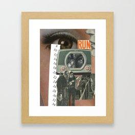 Run....... Framed Art Print