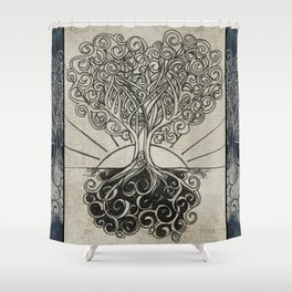 Grounded Heart in Bloom & Branches #1 Shower Curtain
