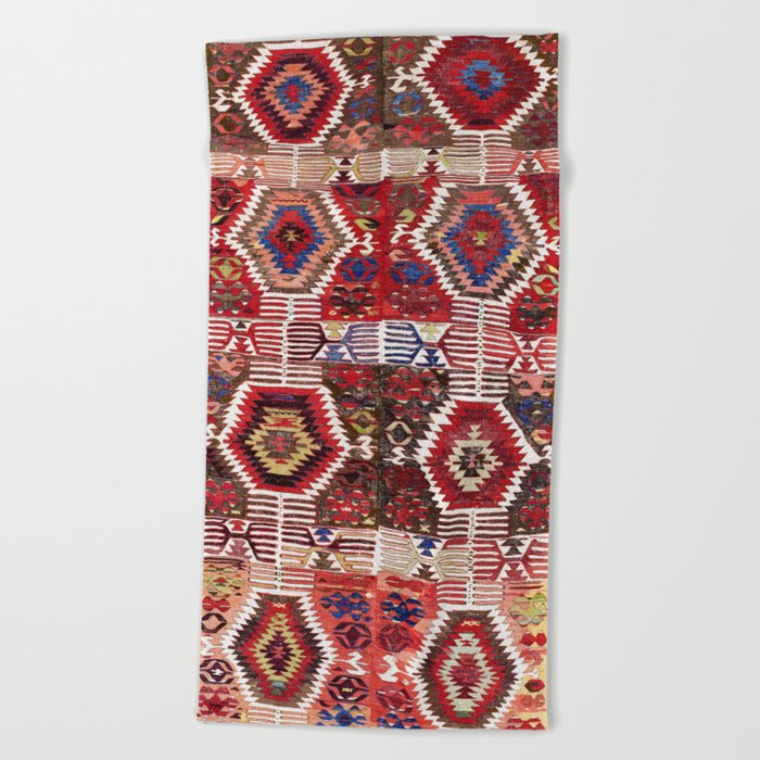 Afyon Antique Turkish Kilim Rug Print