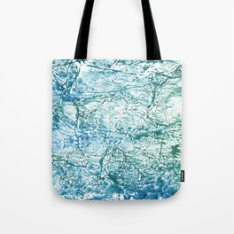 Green blue marble watercolor Tote Bag
