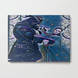 Beauty Finds Beast Metal Print