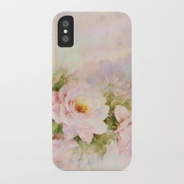 delicate vintage rose iPhone Case