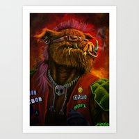 bebop Art Prints featuring BeBop by Andre Beja