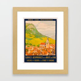 Vintage poster - Route du Jura, France Framed Art Print