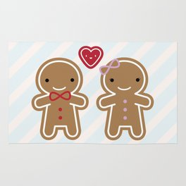 Cookie Cute Gingerbread Couple Rug