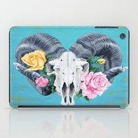 ram iPad Cases featuring Ram  by Sarah K. Fowler