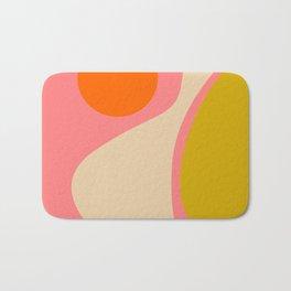 abstract composition modern blush pink Bath Mat