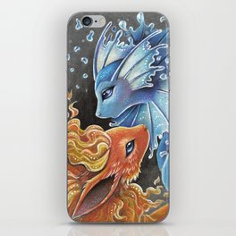 Fire and water iPhone Skin